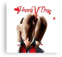 Happy Vagina Day or Valentines xox Canvas Print