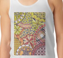 Zentangle Inspired Art (ZIA) in Fall Colours Tank Top