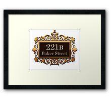 221B Baker St - Sherlock Holmes Framed Print