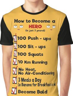 One Punch Man - How to Become a Hero Graphic T-Shirt