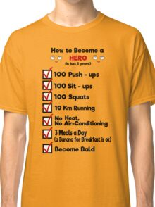 One Punch Man - How to Become a Hero Classic T-Shirt