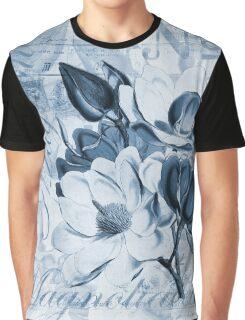 Blue Magnolia Graphic T-Shirt