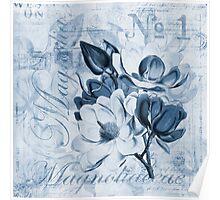 Blue Magnolia Poster