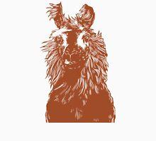 paper llama :: yellow wool fiber alpaca tina napoleon funny cute farm farmer animal ink drawing Unisex T-Shirt