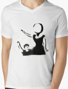Neutral Milk Hotel Stencil Mens V-Neck T-Shirt