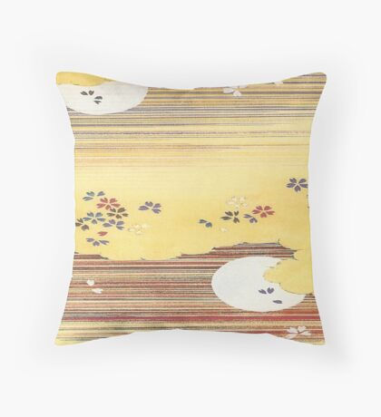 Two Moons Throw Pillow