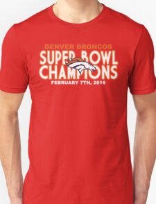 Denver Broncos - 2016 Super Bowl 50 Champions T-Shirt