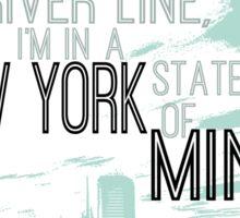 Billy Joel New York State of Mind Sticker
