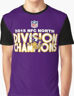 Minnesota Vikings - 2015 NFC North Champions Graphic T-Shirt