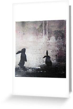 Grey Sky Bunnies by Katie Robinson
