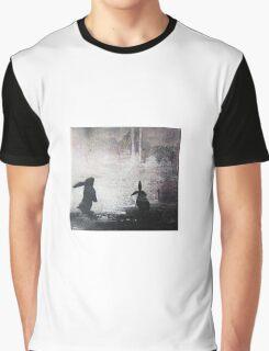 Grey Sky Bunnies Graphic T-Shirt