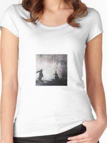 Grey Sky Bunnies Women's Fitted Scoop T-Shirt