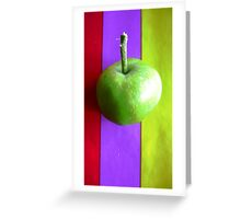 Stripes and Apple 2 Greeting Card