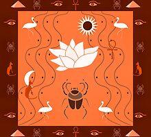 Egyptian Design Orange  by BelindaGreb