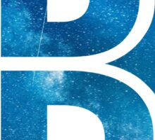 The Letter B - Starry Night Sticker