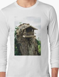 Rustic Wooden Birdhouse Long Sleeve T-Shirt