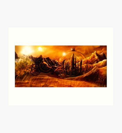 Doctor Who - Gallifrey & Doctor's Name Art Print