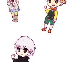 Tokyo Ghoul Chibi Character Stickers - Part 3 by loltias
