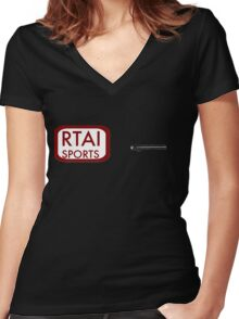 House MD - RTAI sports Women's Fitted V-Neck T-Shirt