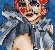 Harlequin - watercolor by Heaven7