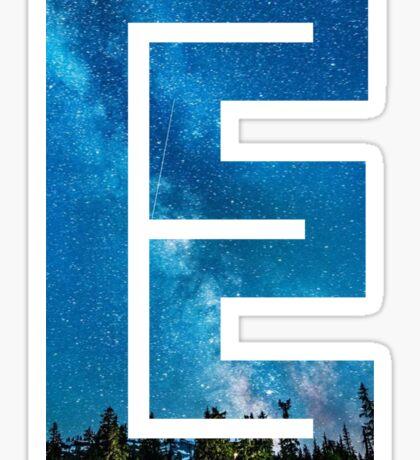 The Letter E - Starry Night Sticker