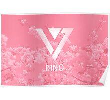Seventeen Dino - Pink Flowers Poster