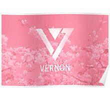 Seventeen Vernon - Pink Flowers Poster