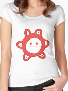Taino Sun Poker Face Women's Fitted Scoop T-Shirt