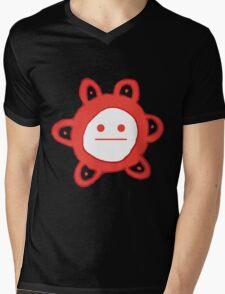 Taino Sun Poker Face Mens V-Neck T-Shirt