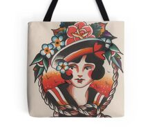 Traditional Lady Head Tote Bag