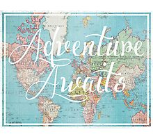 Adventure Awaits World Map Photographic Print