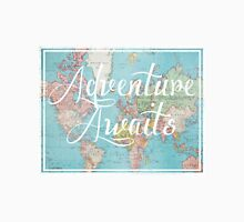 Adventure Awaits World Map Unisex T-Shirt