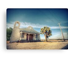 Mojave Desert Church Canvas Print