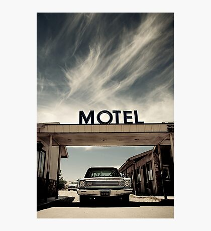 Mojave Desert Motel Photographic Print