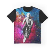 Einstein Riding Bicycle In Space Graphic T-Shirt