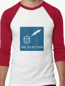 SQL Injection Men's Baseball ¾ T-Shirt