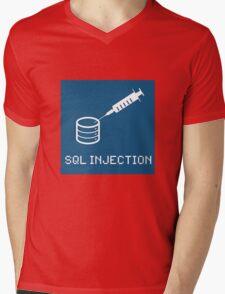 SQL Injection Mens V-Neck T-Shirt