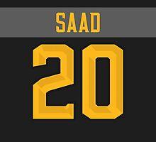 Columbus Blue Jackets Brandon Saad NHL All-Star Black Jersey Back Phone Case by Russ Jericho