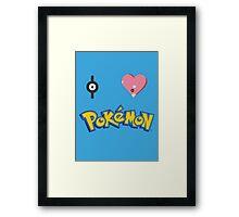 I Love Pokemon Framed Print