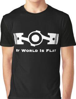 Subaru My World is Flat (white) Graphic T-Shirt