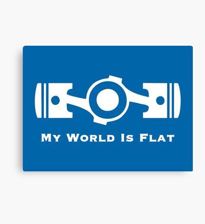 Subaru My World is Flat (white) Canvas Print
