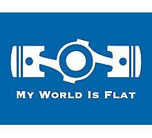 Subaru My World is Flat (white) Photographic Print