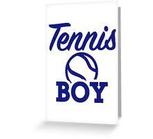 Tennis boy Greeting Card