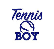 Tennis boy Photographic Print