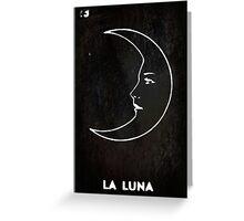 La Luna - Tarot in Black Greeting Card