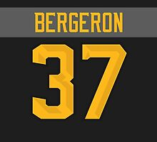 Boston Bruins Patrice Bergeron NHL All-Star Black Jersey Back Phone Case by Russ Jericho
