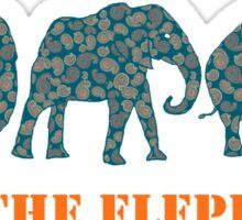 Save the Elephants Paisley Pattern Sticker