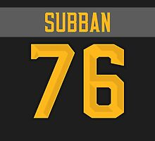 Montreal Canadiens P. K. Subban NHL All-Star Black Jersey Back Phone Case by Russ Jericho