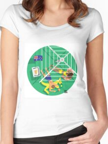 From Above: Australia Day Women's Fitted Scoop T-Shirt