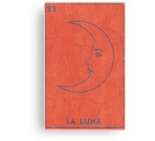 La Luna - Tarot Card in Red Canvas Print